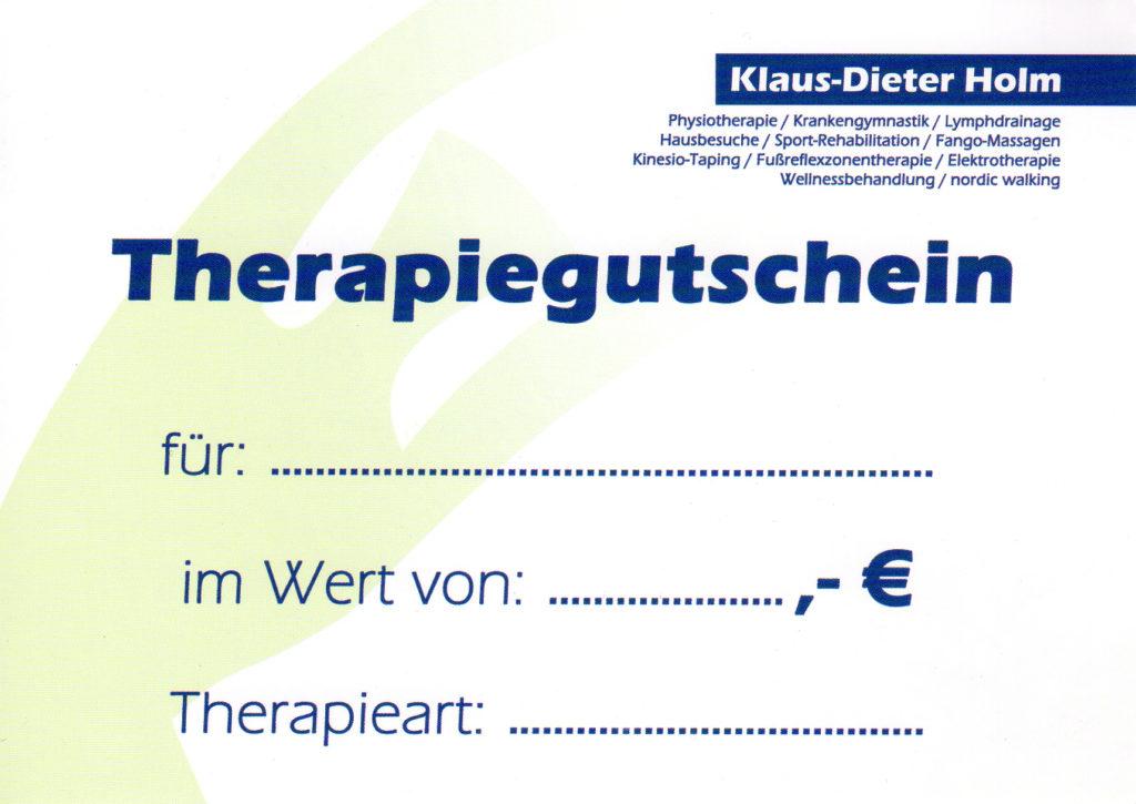 Therapiegutschein